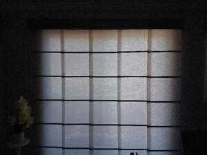 Store / panneau coulissant pour porte patio