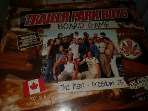 Never opened discontinued Trailer Park Boys board game
