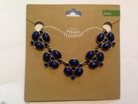 Joules loiree enamelled necklace In Lake Blue