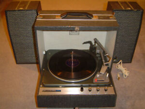 ANTIQUE TURNTABLE, $180.
