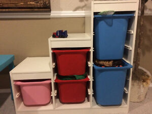 Ikea storage containers with shelves