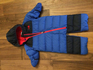 3-6 Month North Face bunting bag or suit