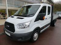 Ford Transit 2.2 Tdci 125ps 350 L3 Lwb Double Cab Tipper *UK VEHICLE Tipper