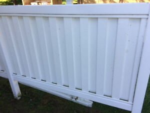 PVC privacy fence.