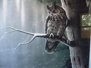 """Hand Signed Wildlife Lithograph by L. E. Robinson """"The Watcher"""" Stratford Kitchener Area image 2"""