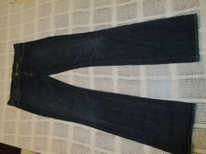 7 seven for all mankind, size 30 X 34, bootcut blue jeans