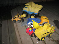 Lot of working toy vehicles