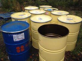 Metal 45 gallon drums