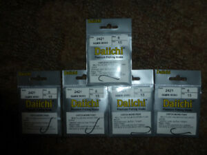 Five packs of Daiichi fly tying hooks for sale