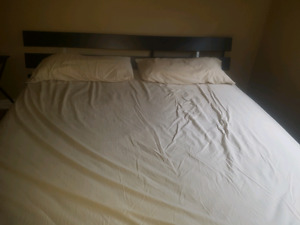 King size bed frame - 650$ - great condition