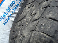 2 Motomaster Total Terrain LT 245 70-r17 truck tires with 60% tr