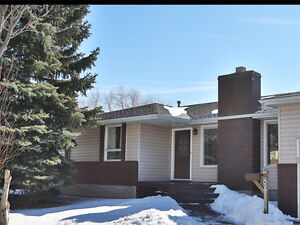 Spacious 5 bedroom home with walkout basement and deck
