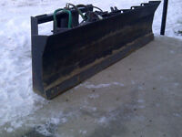 Snow blade for skid steer