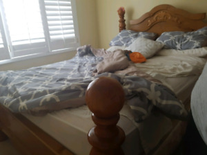 Bed set with box frame mattress for sale