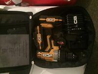 JCB 20v cordless drill, extra battery, (lithium)