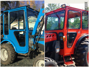 Compact tractor cabs