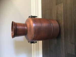 Pottery Barn decorative copper canister