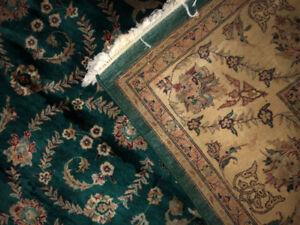 vintage Persian Kashan Rug 8X10