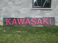 kawasaki dearler sign from the 70s