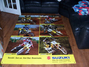 72in by 52in double sided Suzuki vinyl store banner Both sides h