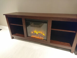 TV stand with Fireplace - brand new