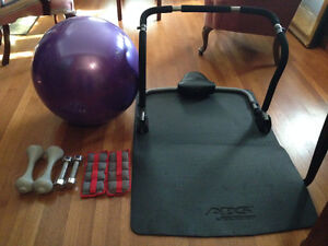 Hand Weights, Large Size Stability Ball, Abdominal Exerciser