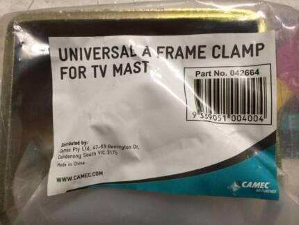TV Mast clamp holder - heavy duty