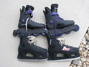 CCM inline skate and Micron ice skate