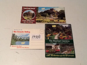 1970's FOLD UP BLANK POST CARDS. X160