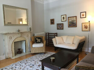 Furnished 1 BR downtown/McGill with parking