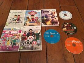 9 Nintendo Wii games Bundle