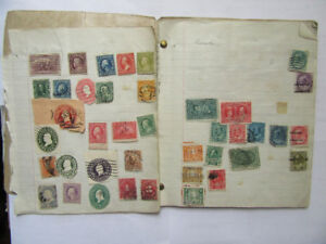 Small collection of antique worldwide stamps