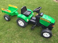 Kids sit on pedal Tractor & Trailer, great condition