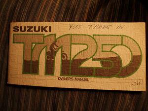 1975 Suzuki TM250M Motocrosser Owner's Manual