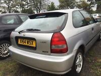 X Reg Honda Civic 1.4 petrol AUTOMATIC 3 door