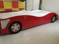 Kids boys red racing car bed