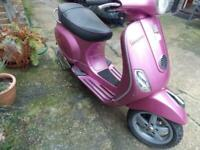 PIAGGIO VESPA LX50, 2010, PINK, ONLY 6974 MILES, VVGC. SERVICED, NEW MOT,