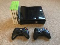 Xbox 360 S 250gb, Two Controllers and Games