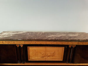 One of kind marble top buffet... Conversation piece!