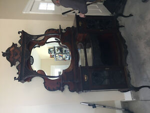 Antique ornate caninet