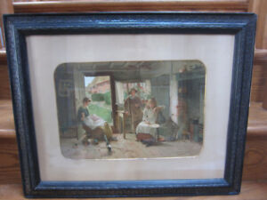Victorian Framed Chromolithograph Carlton Alfred Smith