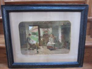 Victorian framed Chromolithograph Carlton Alfred Smith