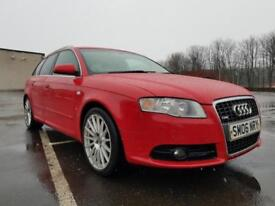 Audi A4 Avant 2.0TFSI Special Edition S Line DIESEL RED SAT NAV LEATHER WARRANTY