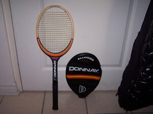 "Vintage DONNAY ""ALLWOOD"" Tennis Racquet + Matching Cover"
