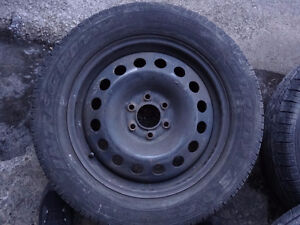 4 RIMS 17 INCH 6X115 AND TIRES 225 60 17 UPLANDER MONTANA SV6