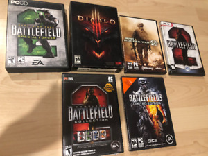 Jeux ordinateur, Diablo 3, Battlefield, Call of duty 50$