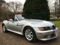 ICONIC BMW Z3 2.8 ROADSTER SILVER MANUAL BLACK LEATHER