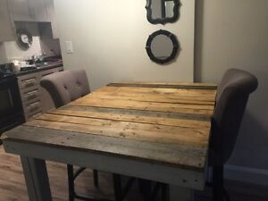 Counter Height kitchen table! (Recycled Pallets)