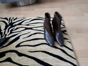 Chocolate Brown Lamb Leather ankle boot