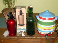 BAR soda maker with chargers & large ceramic sangria vessel tap